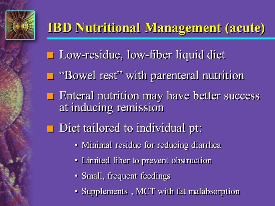 IBD Nutritional Management (acute)
