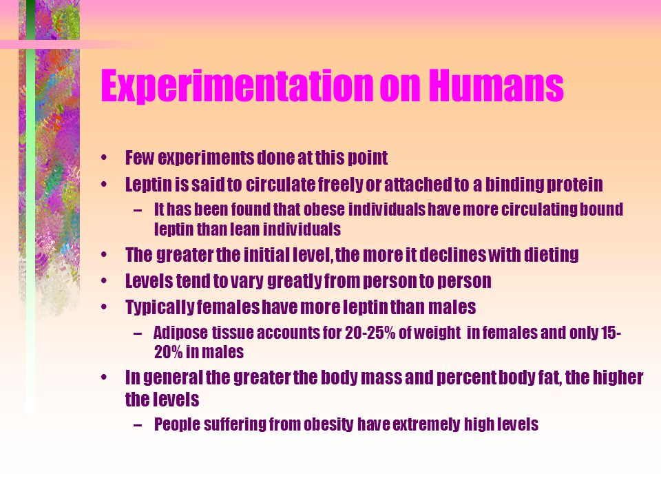 Experimentation on Humans