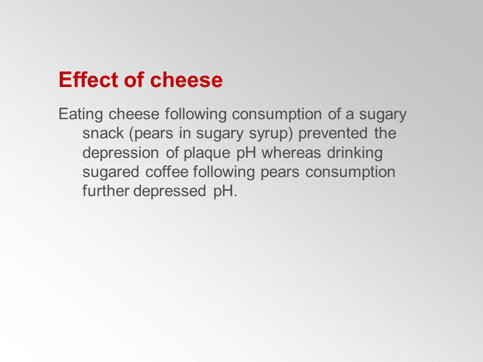 Effect of cheese