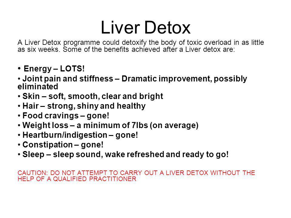 Liver Detox Energy – LOTS!