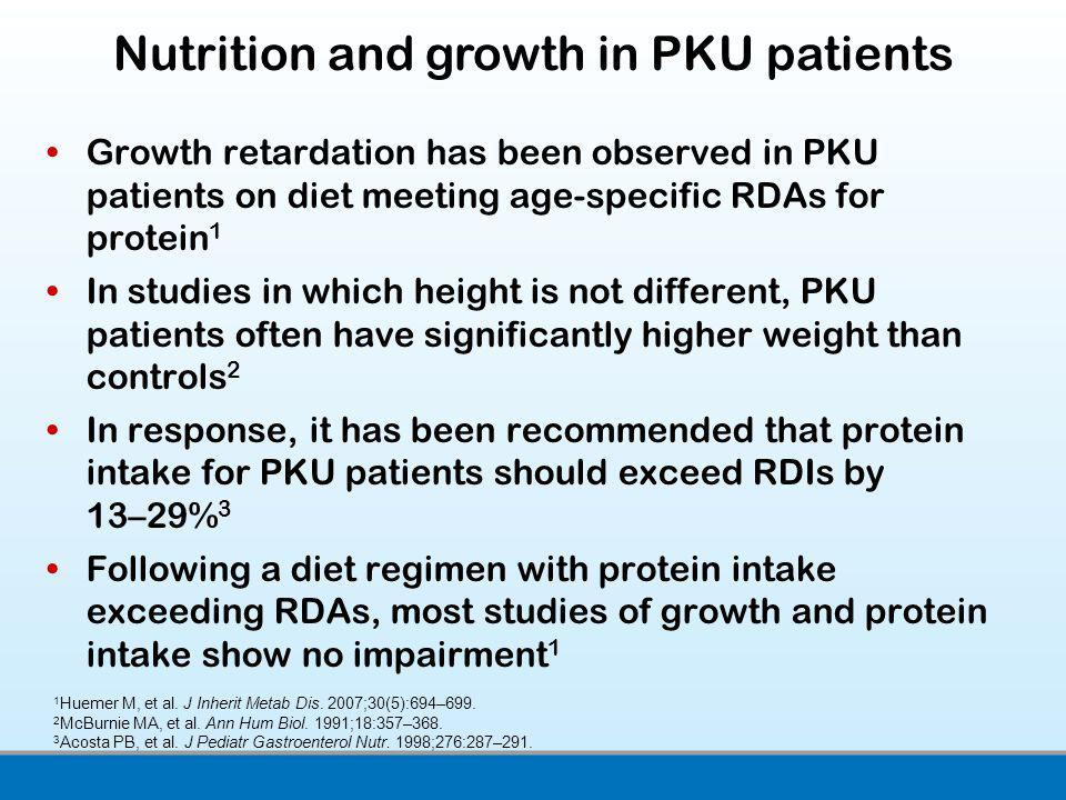 Nutrition and growth in PKU patients