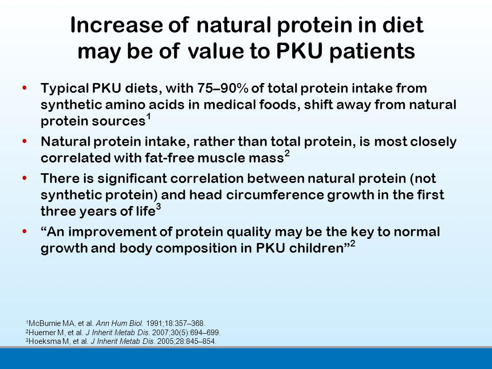 Increase of natural protein in diet may be of value to PKU patients
