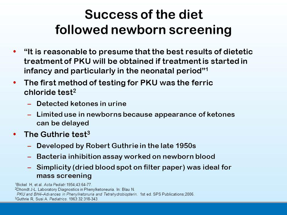 Success of the diet followed newborn screening