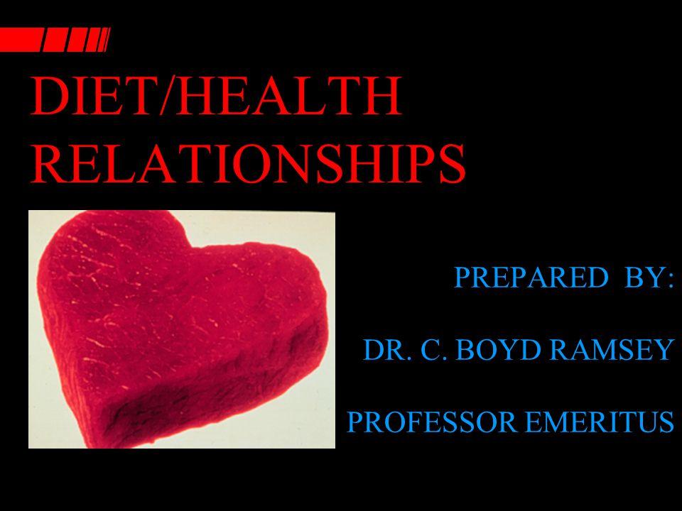 DIET/HEALTH RELATIONSHIPS