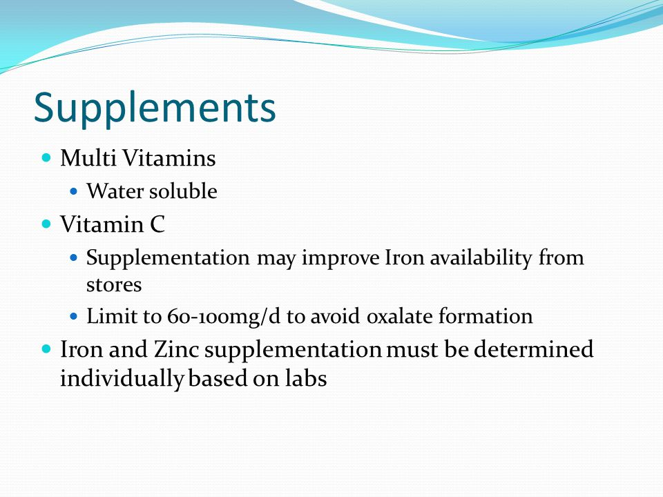 Supplements Multi Vitamins Vitamin C