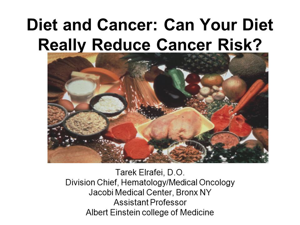 Diet and Cancer: Can Your Diet Really Reduce Cancer Risk