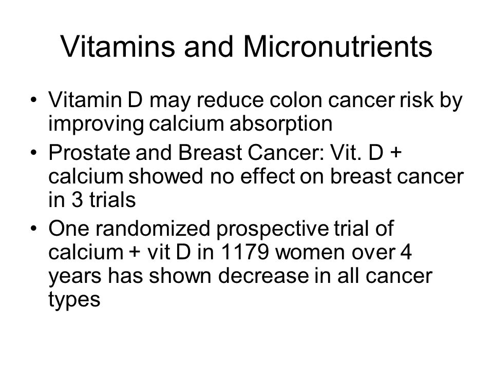 Vitamins and Micronutrients