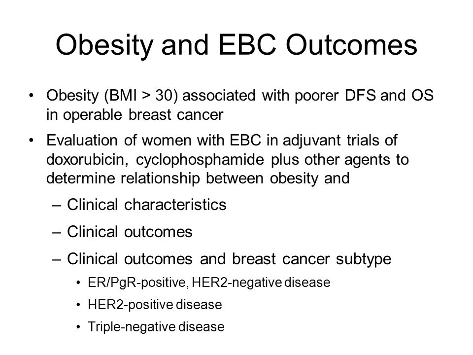 Obesity and EBC Outcomes