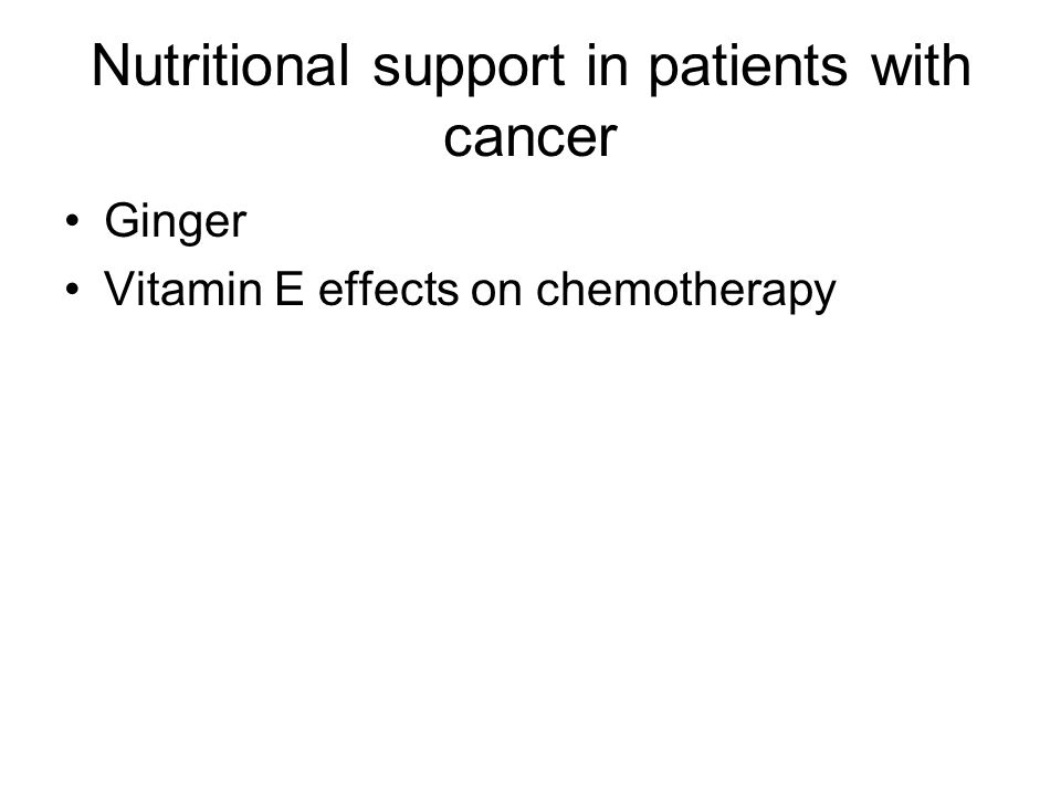 Nutritional support in patients with cancer