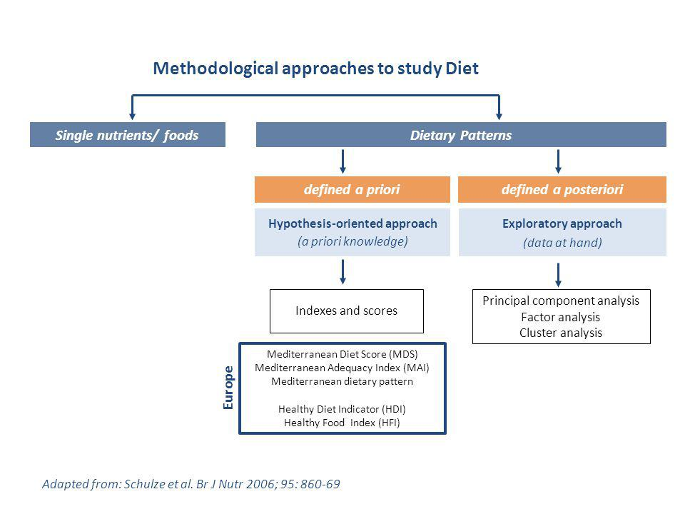 Methodological approaches to study Diet