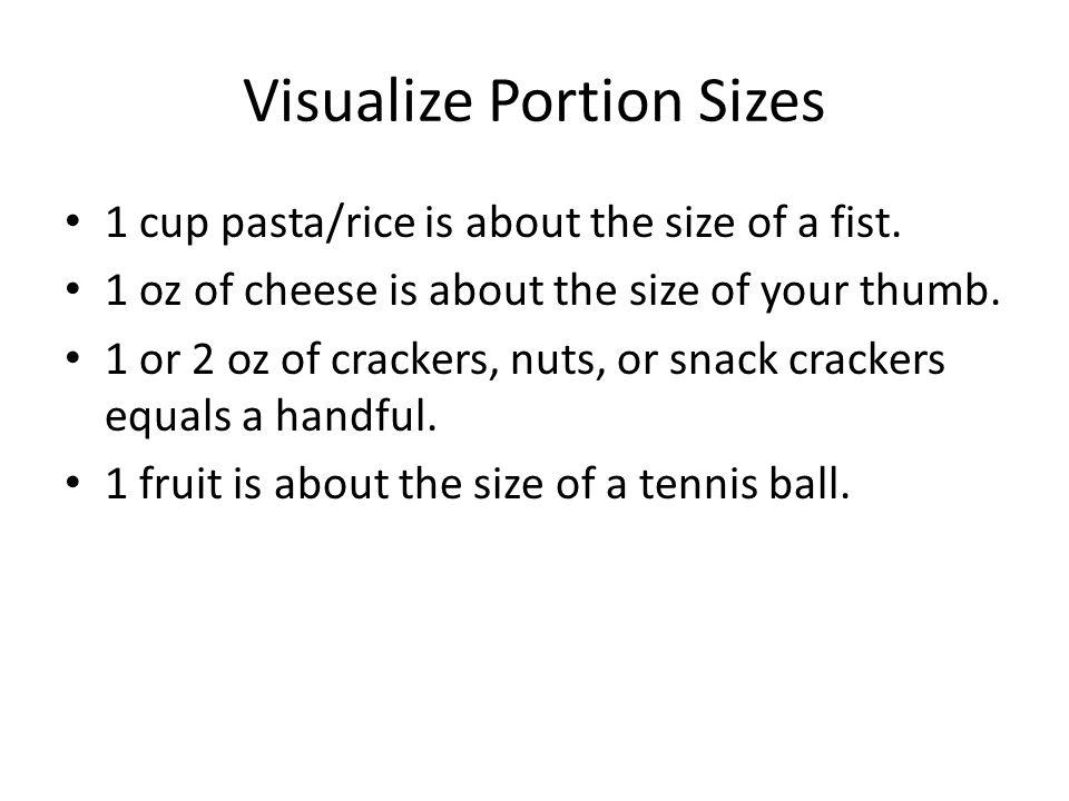 Visualize Portion Sizes