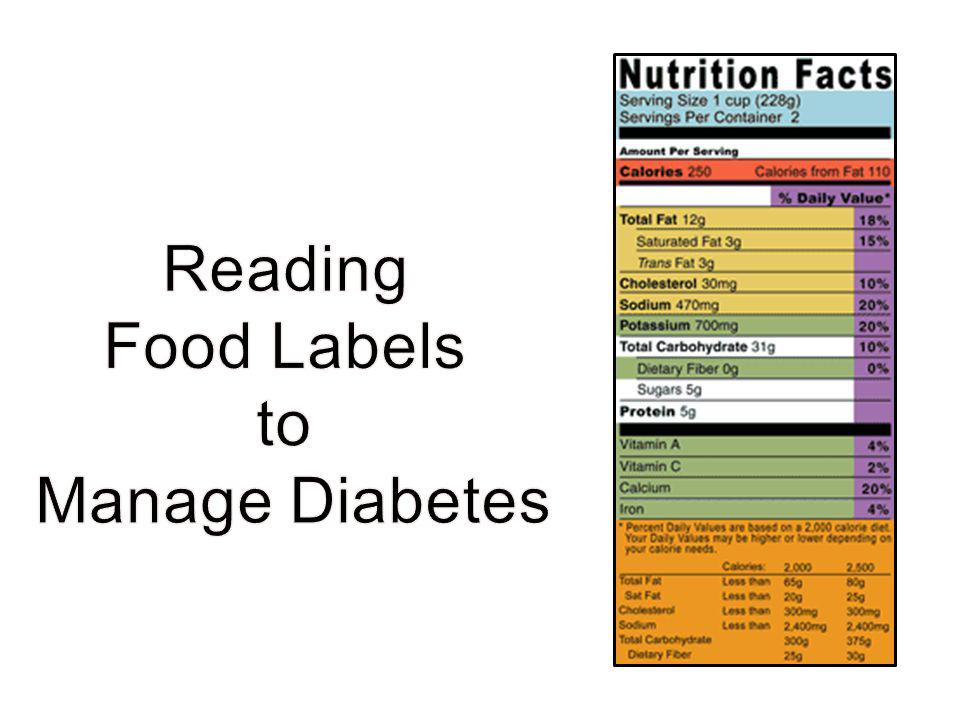 Reading Food Labels to Manage Diabetes