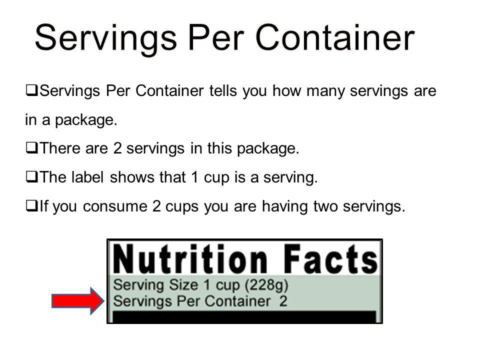 Servings Per Container