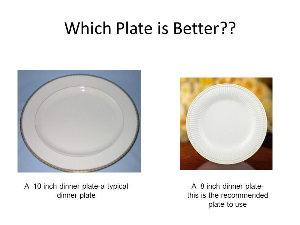 Which Plate is Better A 10 inch dinner plate-a typical dinner plate