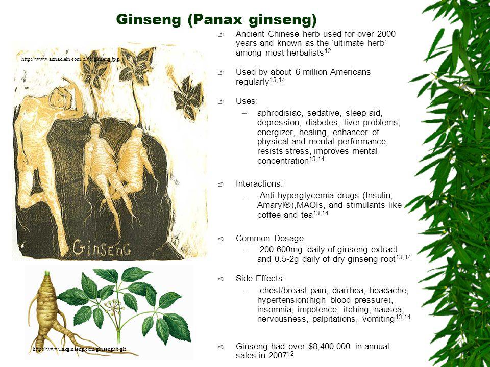Ginseng (Panax ginseng)