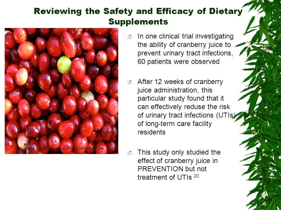 Reviewing the Safety and Efficacy of Dietary Supplements