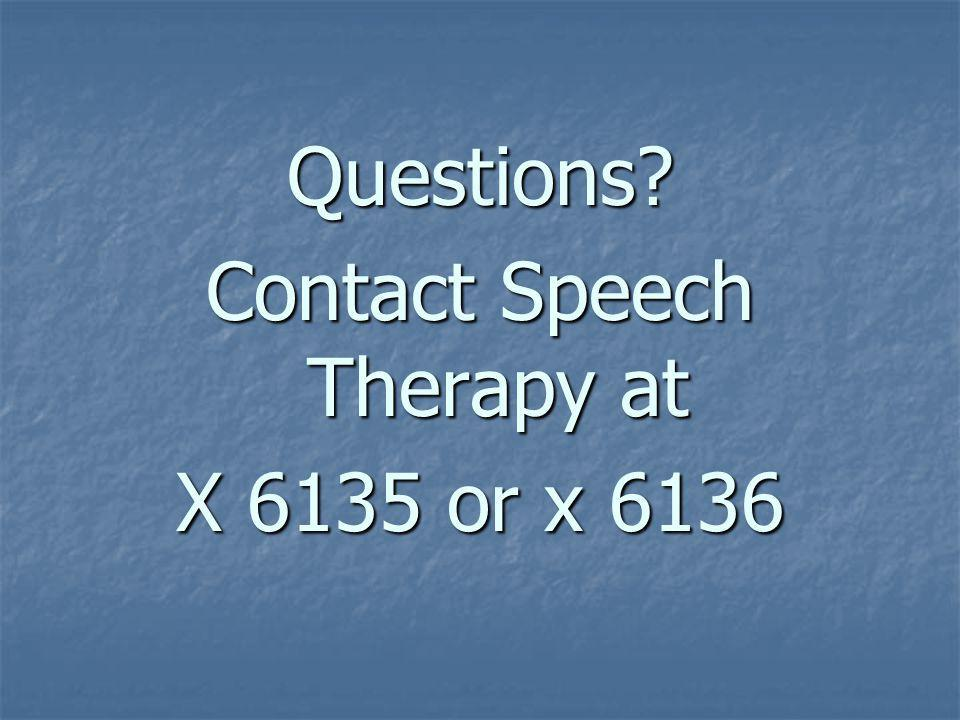 Contact Speech Therapy at