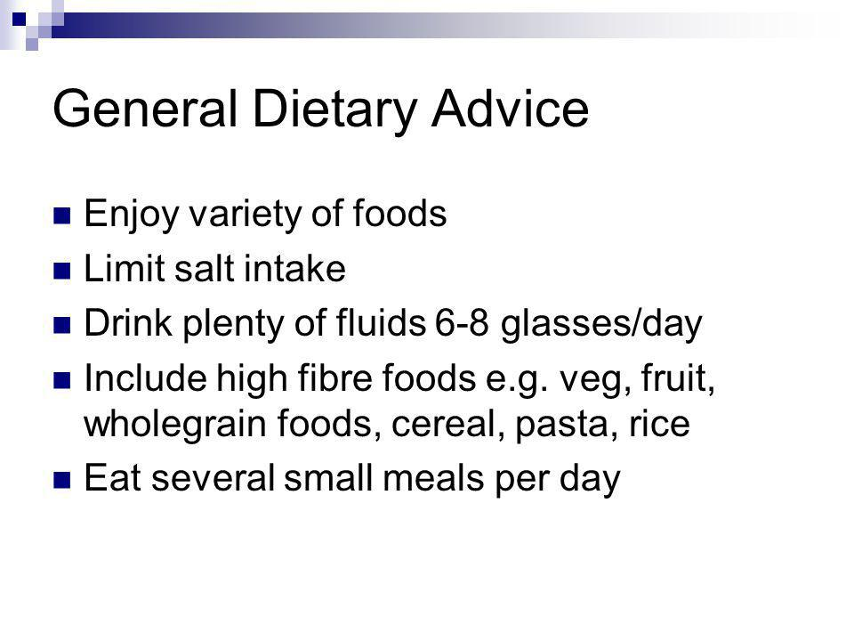 General Dietary Advice