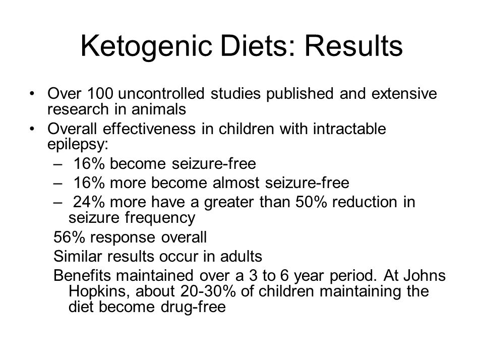 Ketogenic Diets: Results