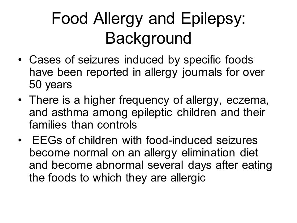 Food Allergy and Epilepsy: Background