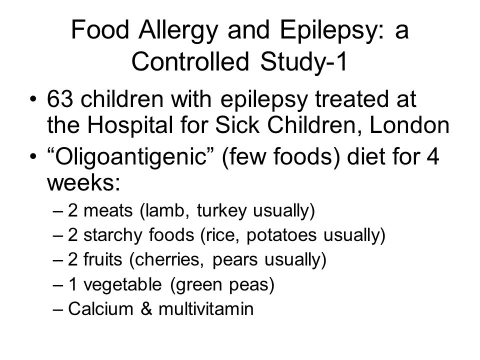 Food Allergy and Epilepsy: a Controlled Study-1