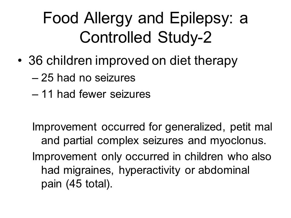 Food Allergy and Epilepsy: a Controlled Study-2
