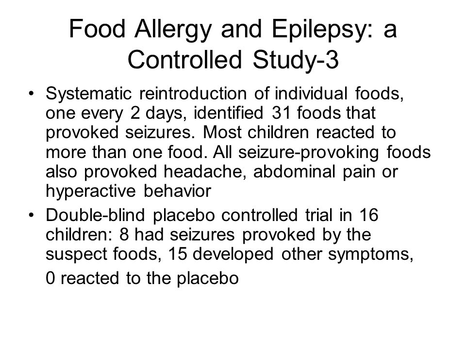 Food Allergy and Epilepsy: a Controlled Study-3