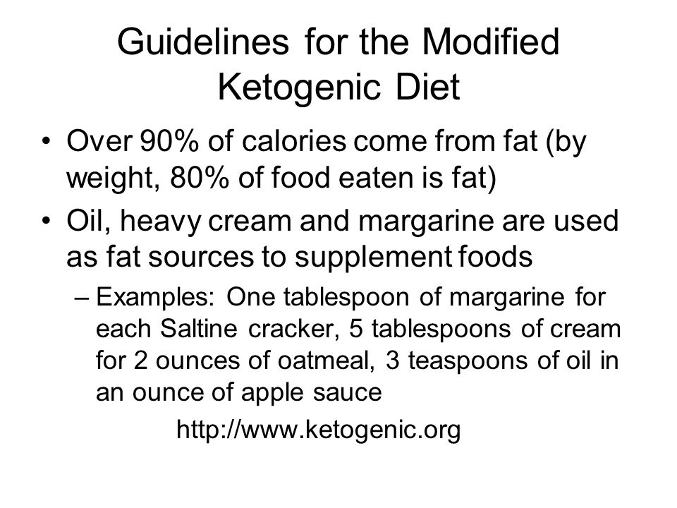 Guidelines for the Modified Ketogenic Diet