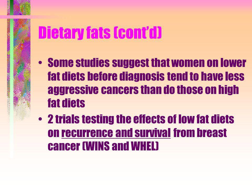 Dietary fats (cont'd)