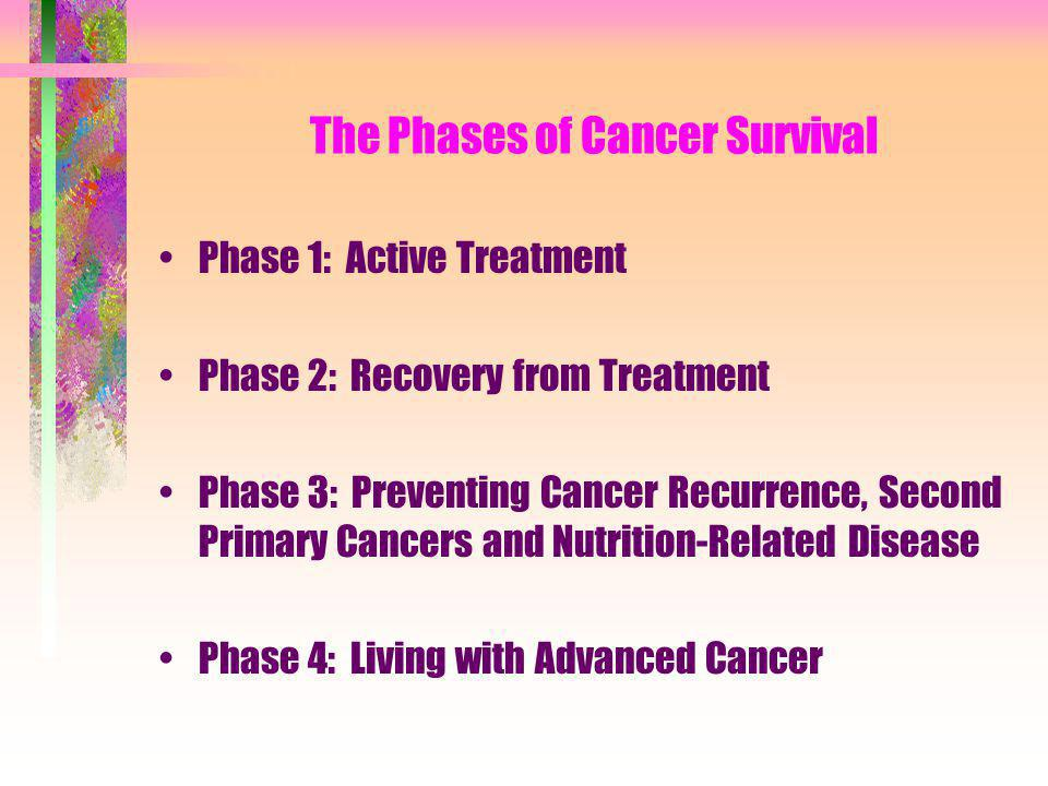 The Phases of Cancer Survival