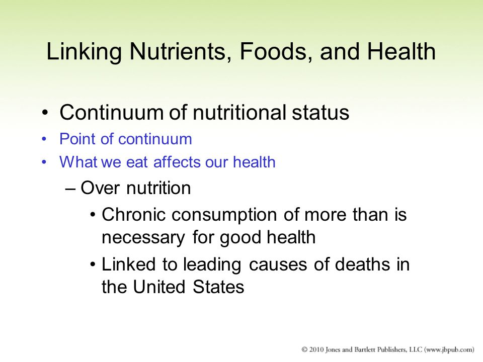 Linking Nutrients, Foods, and Health