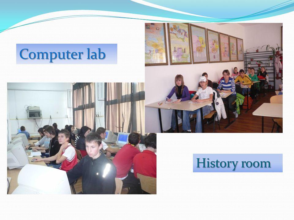 Computer lab History room