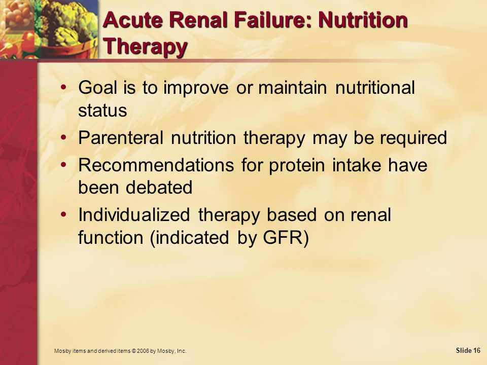 Acute Renal Failure: Nutrition Therapy