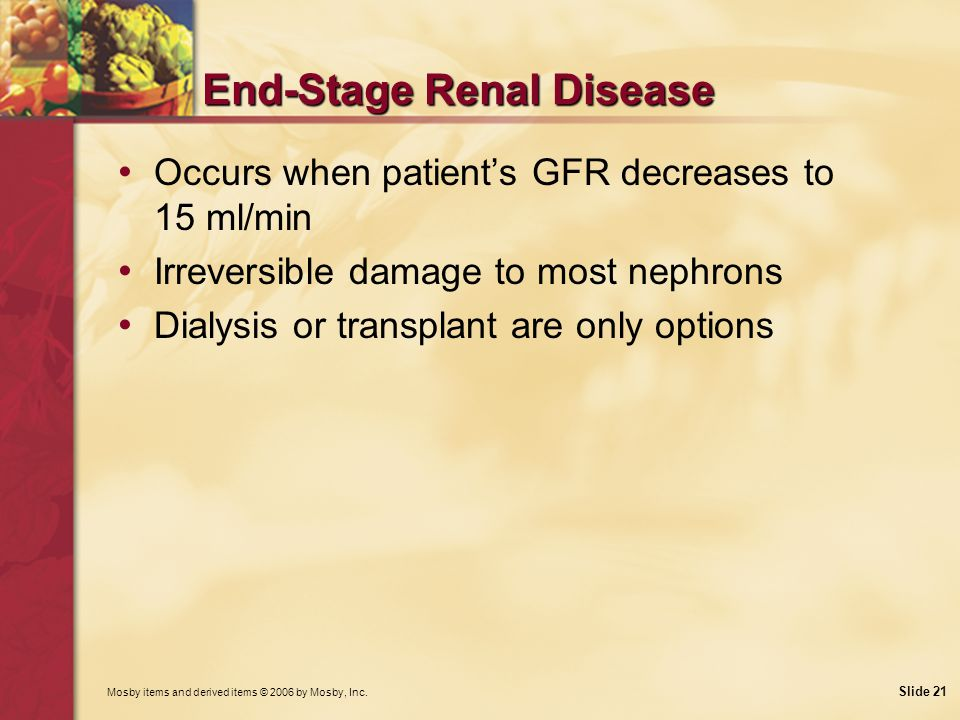 End-Stage Renal Disease