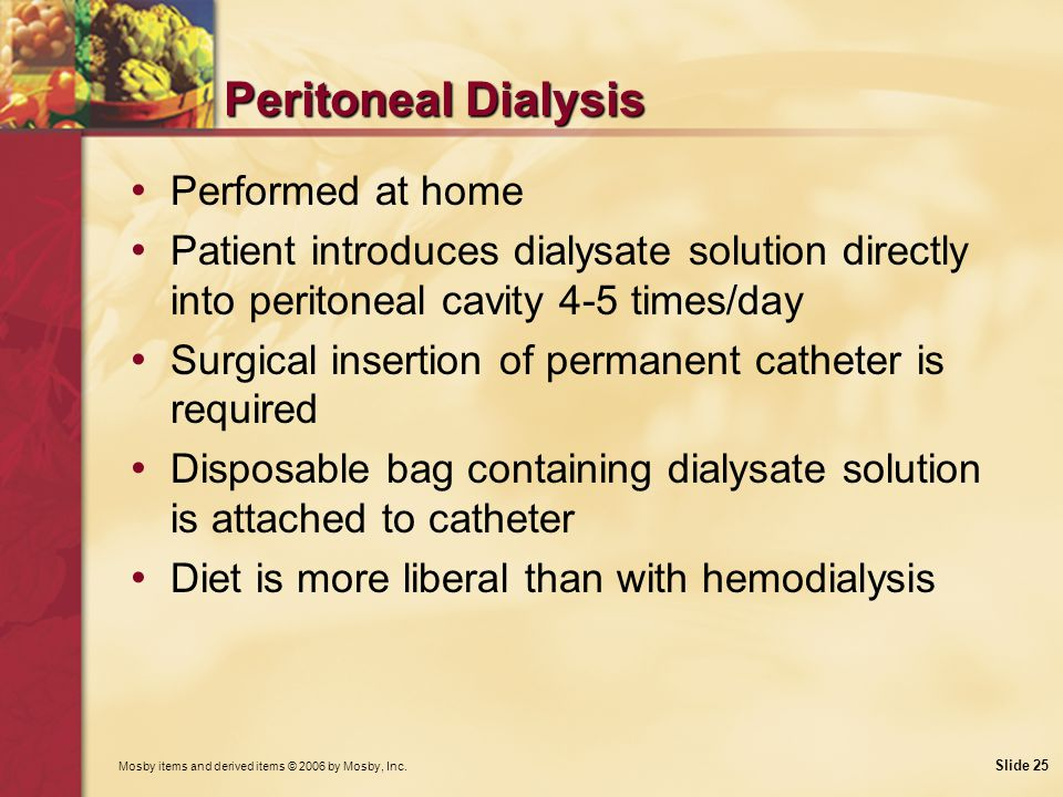 Peritoneal Dialysis Performed at home