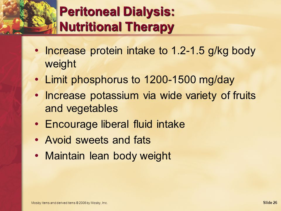 Peritoneal Dialysis: Nutritional Therapy