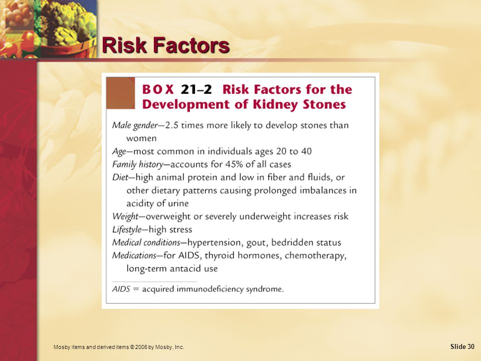 Risk Factors What is the relationship between malnutrition and kidney stone formation Why might certain medications contribute to stone formation