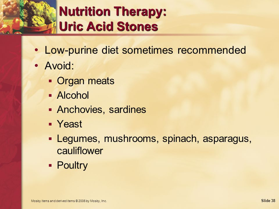 Nutrition Therapy: Uric Acid Stones