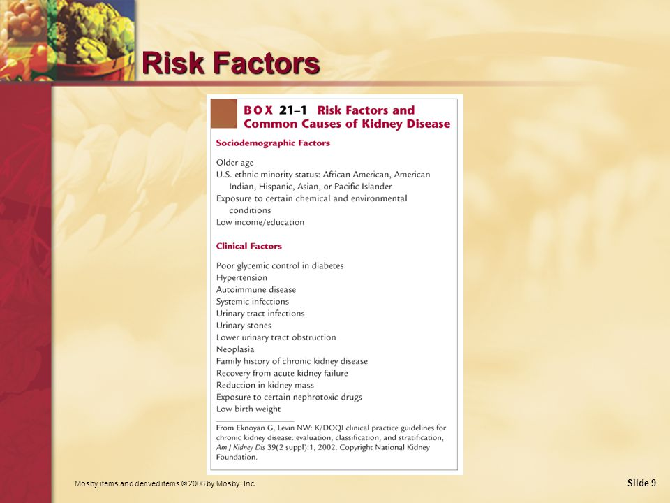 Risk Factors What risk factors can be reduced or prevented with improved education and early diagnosis