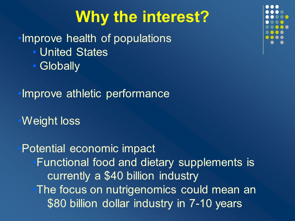 Why the interest Improve health of populations United States Globally