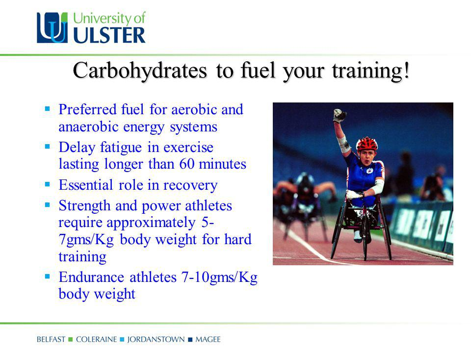 Carbohydrates to fuel your training!