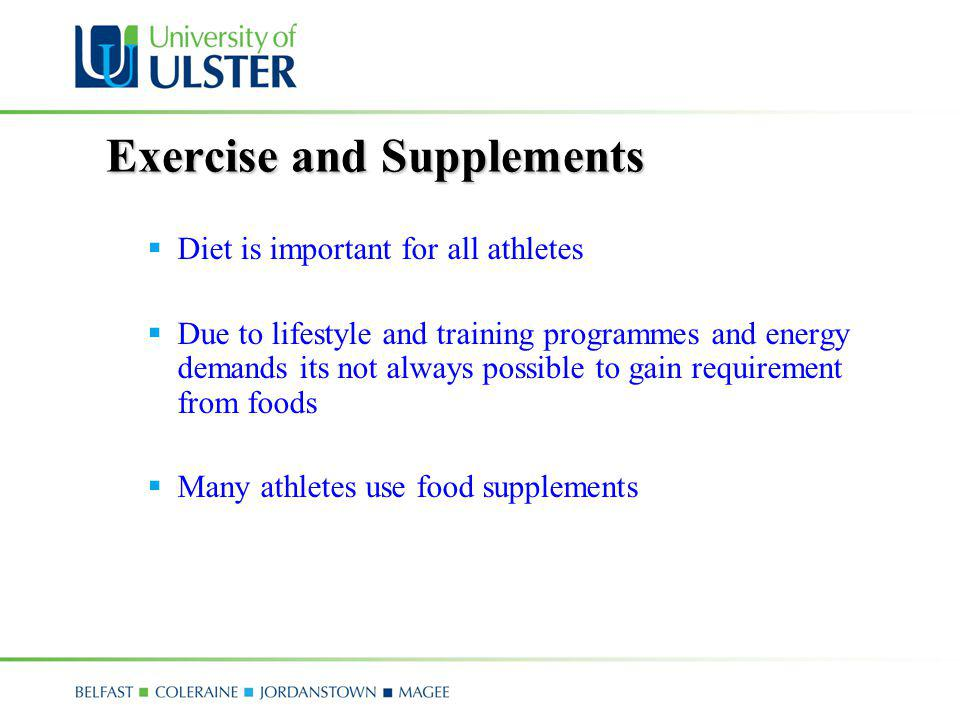 Exercise and Supplements