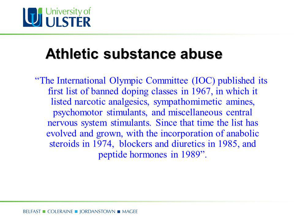Athletic substance abuse