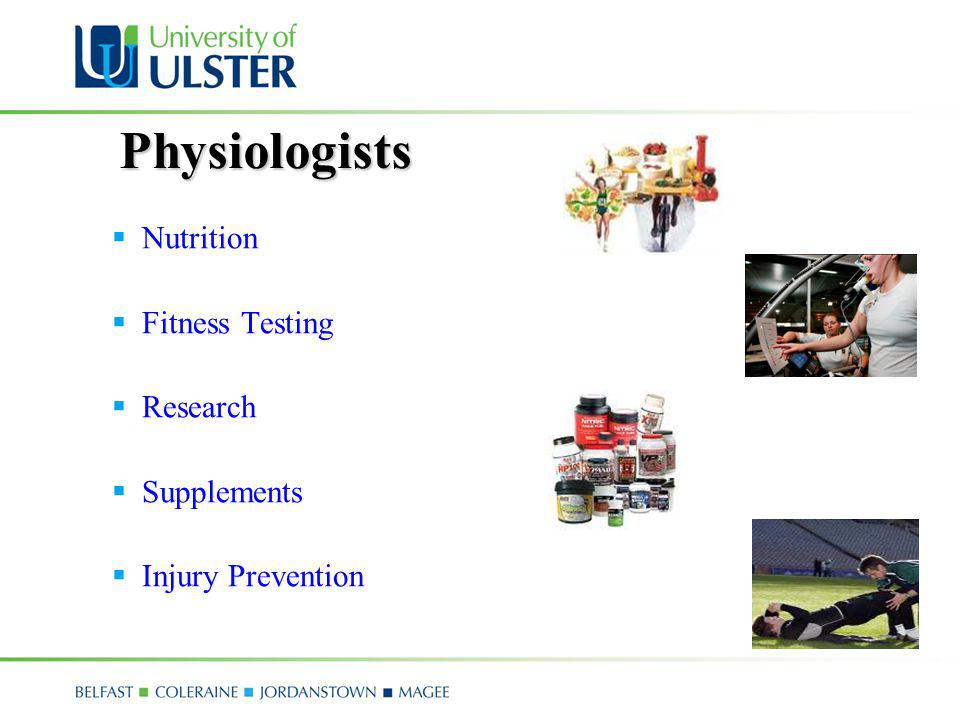 Physiologists Nutrition Fitness Testing Research Supplements