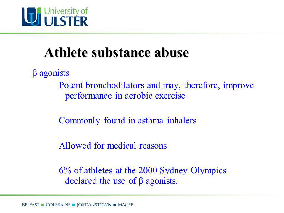 Athlete substance abuse