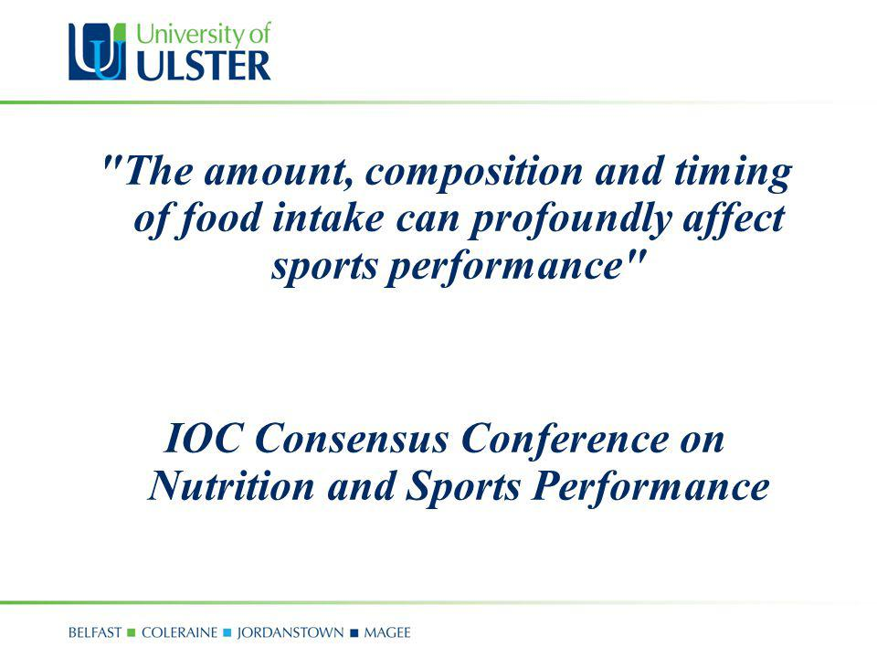 IOC Consensus Conference on Nutrition and Sports Performance
