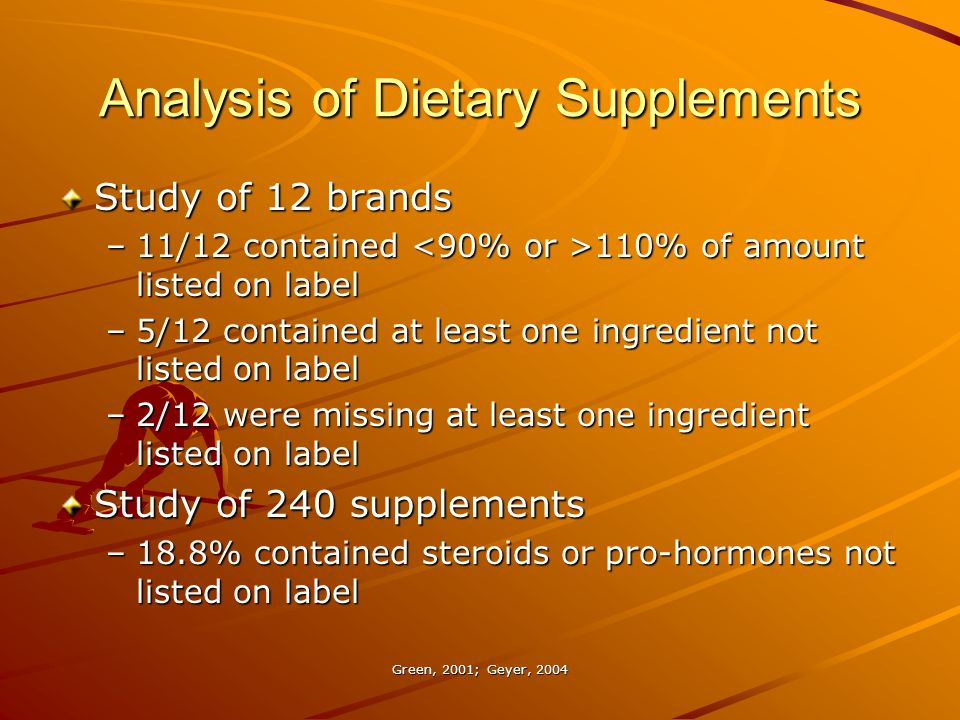 Analysis of Dietary Supplements