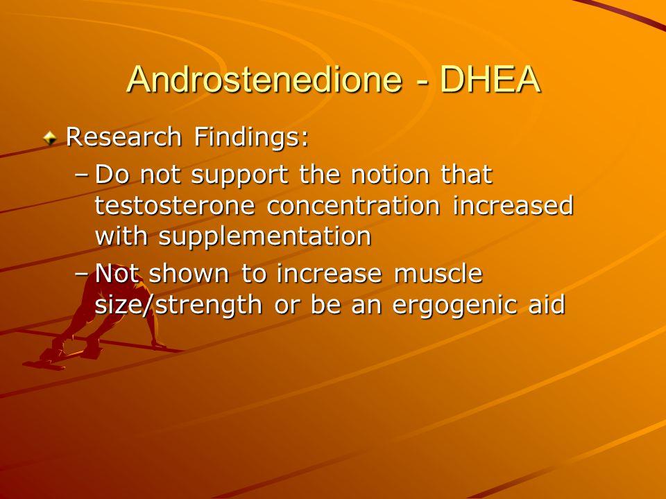 Androstenedione - DHEA