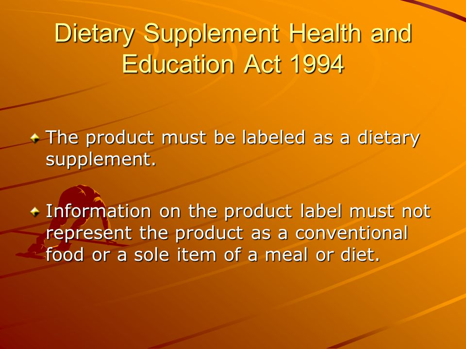 Dietary Supplement Health and Education Act 1994