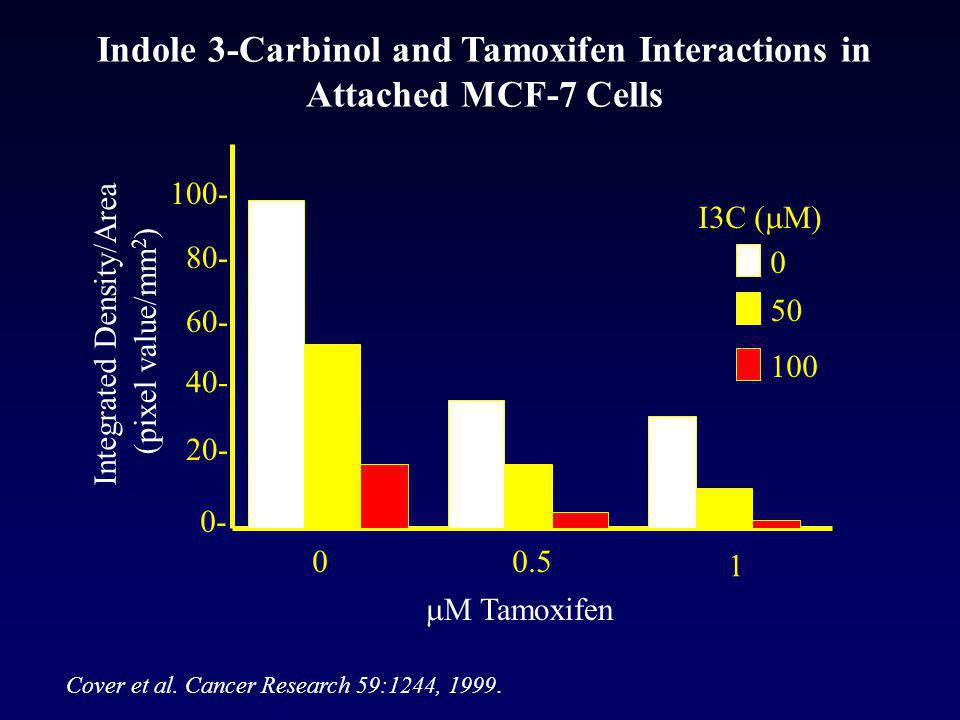 Indole 3-Carbinol and Tamoxifen Interactions in Attached MCF-7 Cells